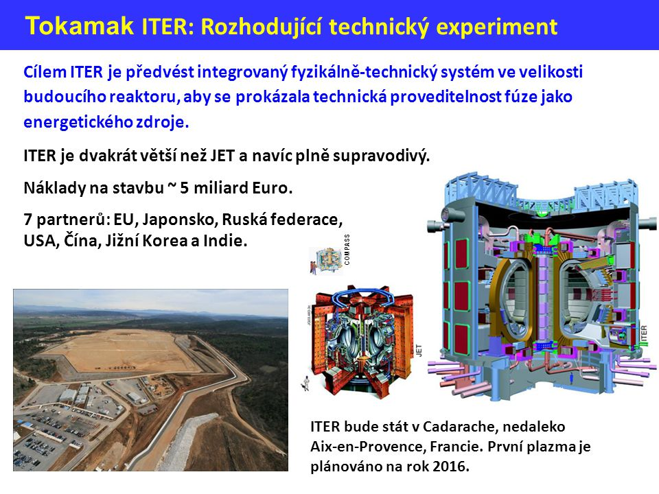 Tokamak ITER: Rozhodující technický experiment