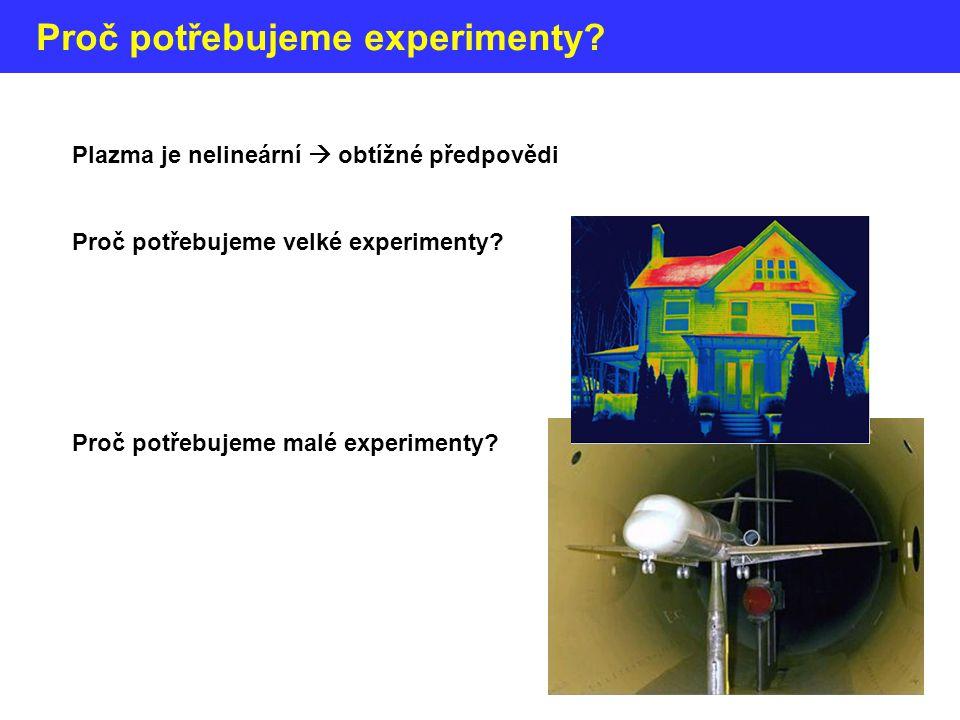 Proč potřebujeme experimenty