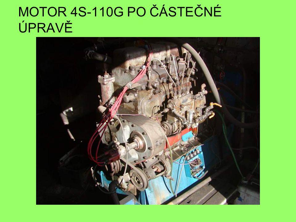 MOTOR 4S-110G PO ČÁSTEČNÉ ÚPRAVĚ