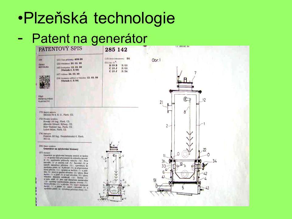 Plzeňská technologie - Patent na generátor