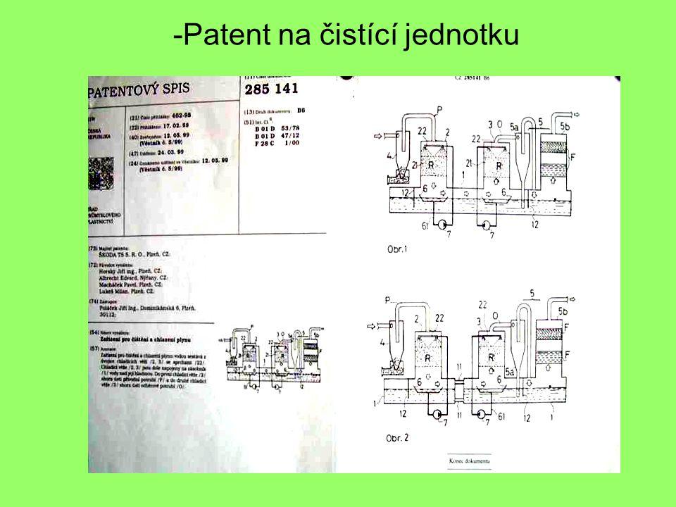-Patent na čistící jednotku