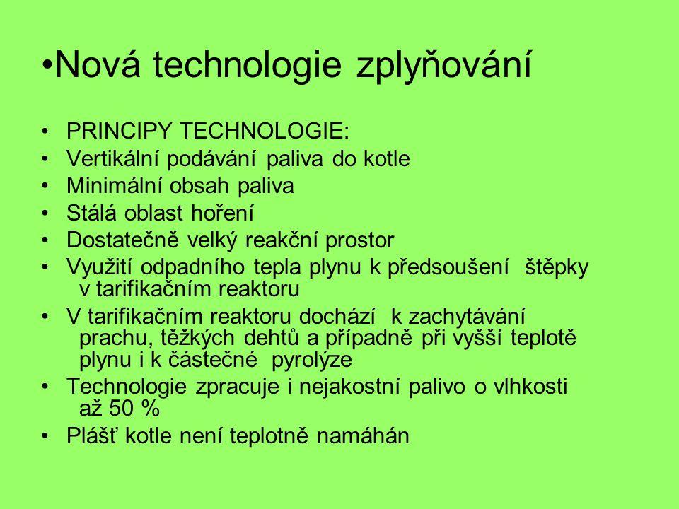 Nová technologie zplyňování