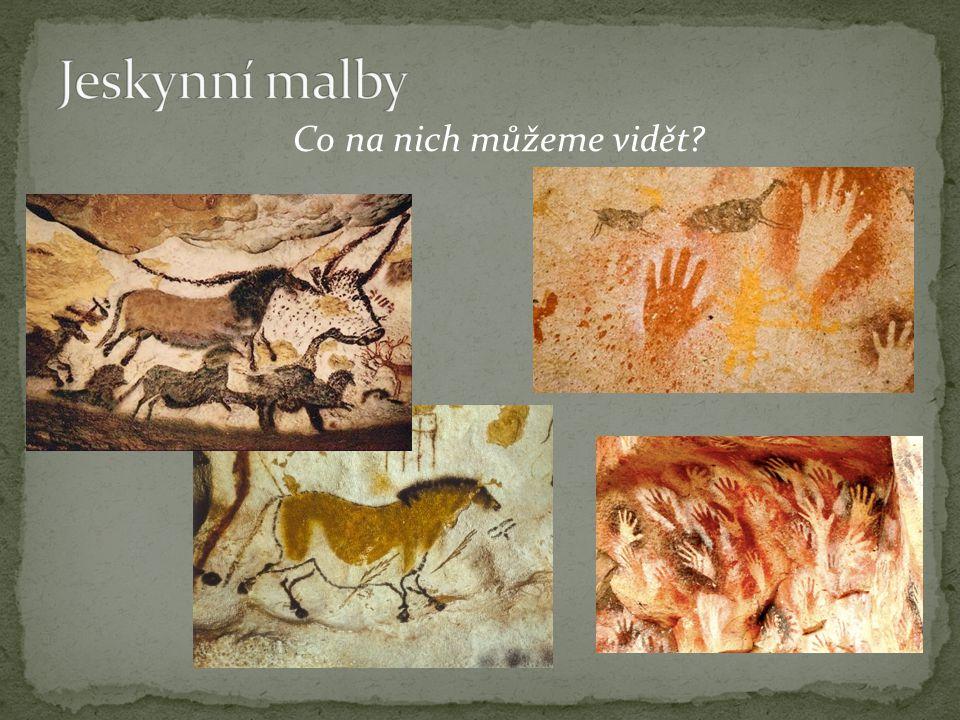 Jeskynní malby Co na nich můžeme vidět