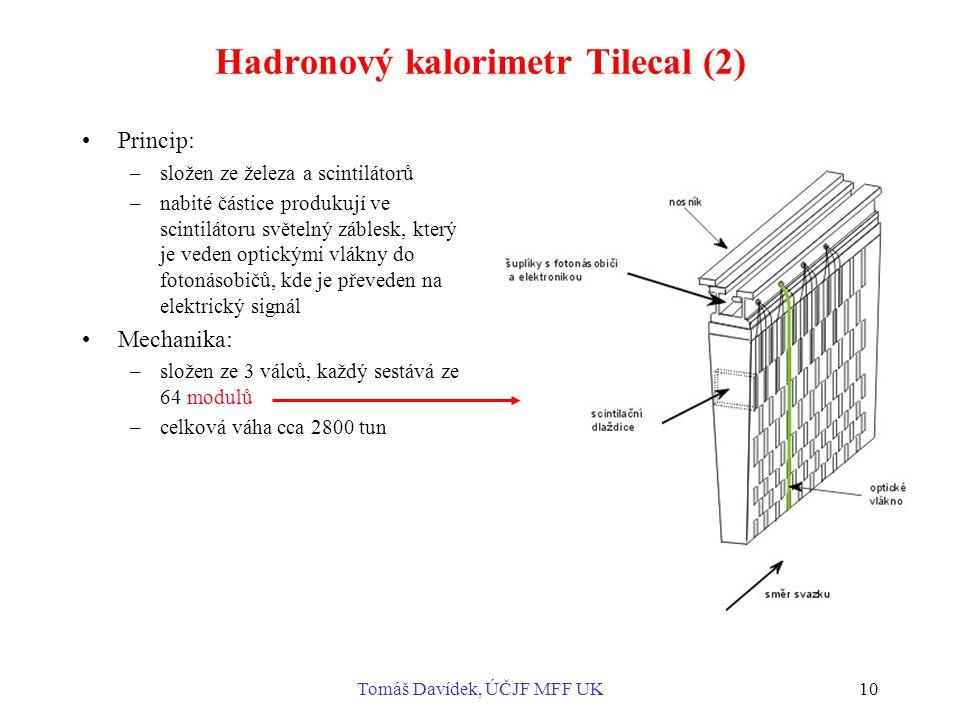 Hadronový kalorimetr Tilecal (2)