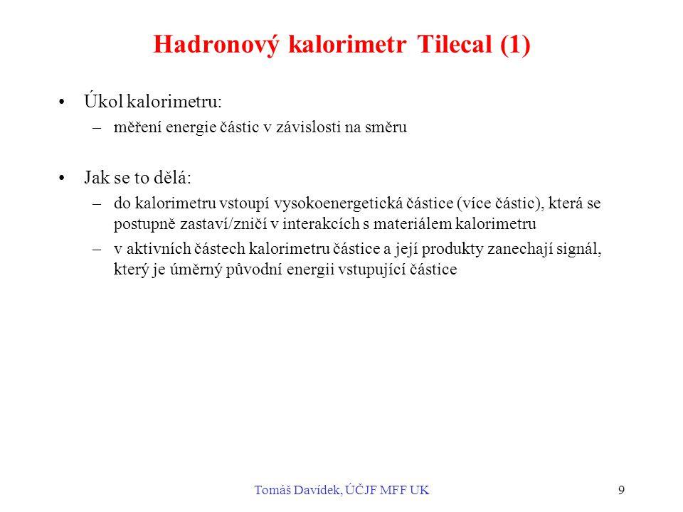 Hadronový kalorimetr Tilecal (1)