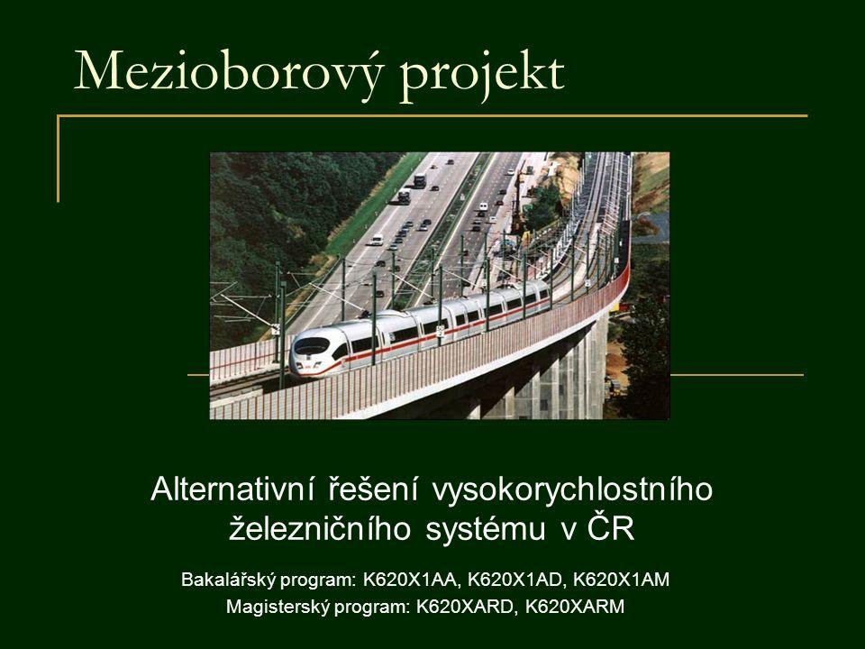Alternativní řešení vysokorychlostního železničního systému v ČR