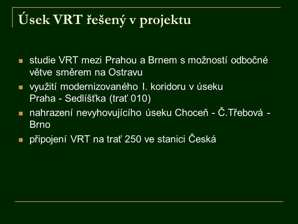 Úsek VRT řešený v projektu