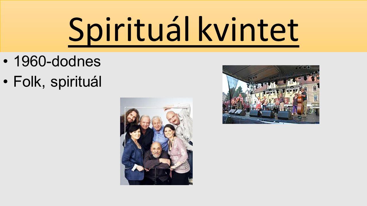 1960-dodnes Folk, spirituál