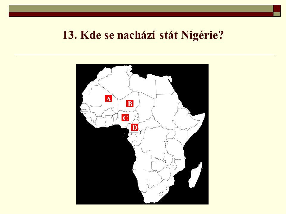 13. Kde se nachází stát Nigérie