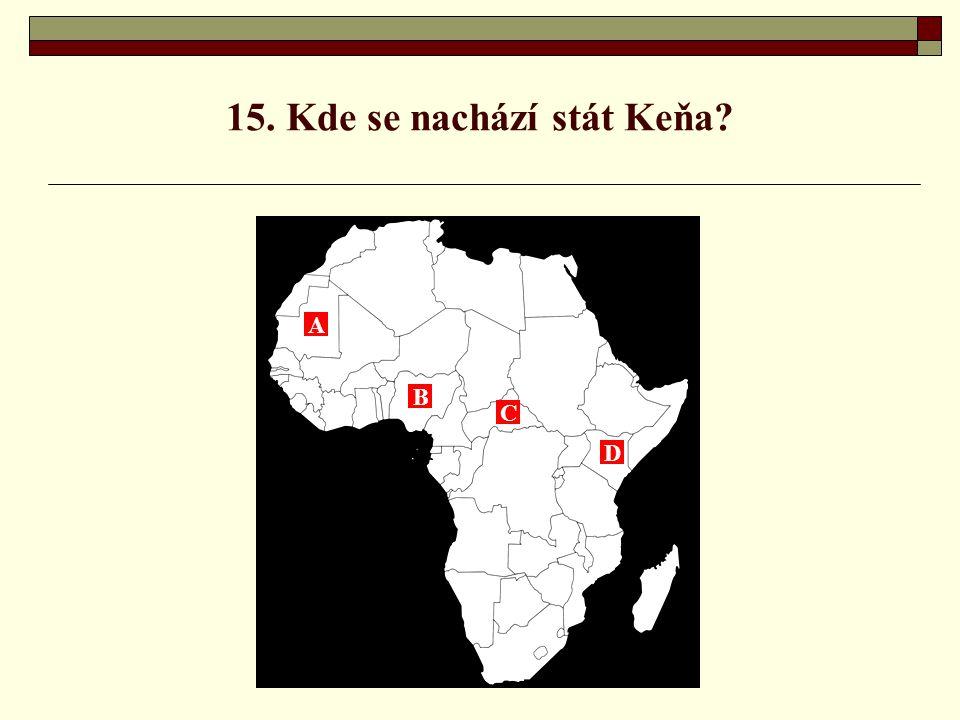 15. Kde se nachází stát Keňa