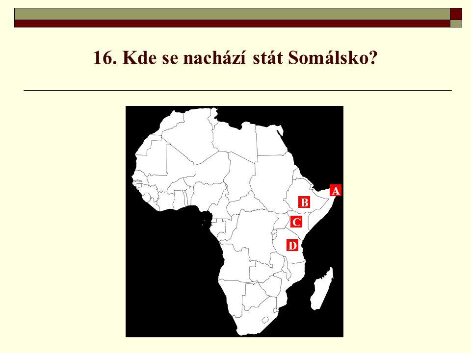 16. Kde se nachází stát Somálsko