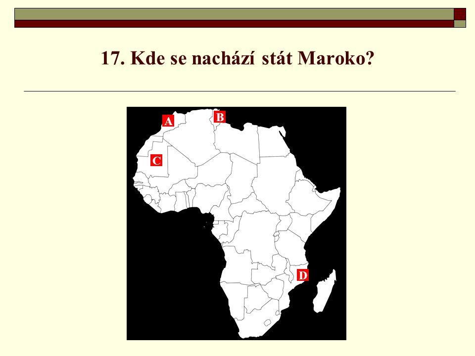 17. Kde se nachází stát Maroko