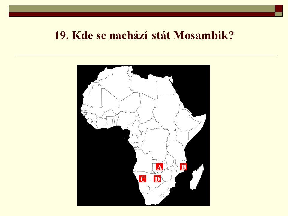 19. Kde se nachází stát Mosambik