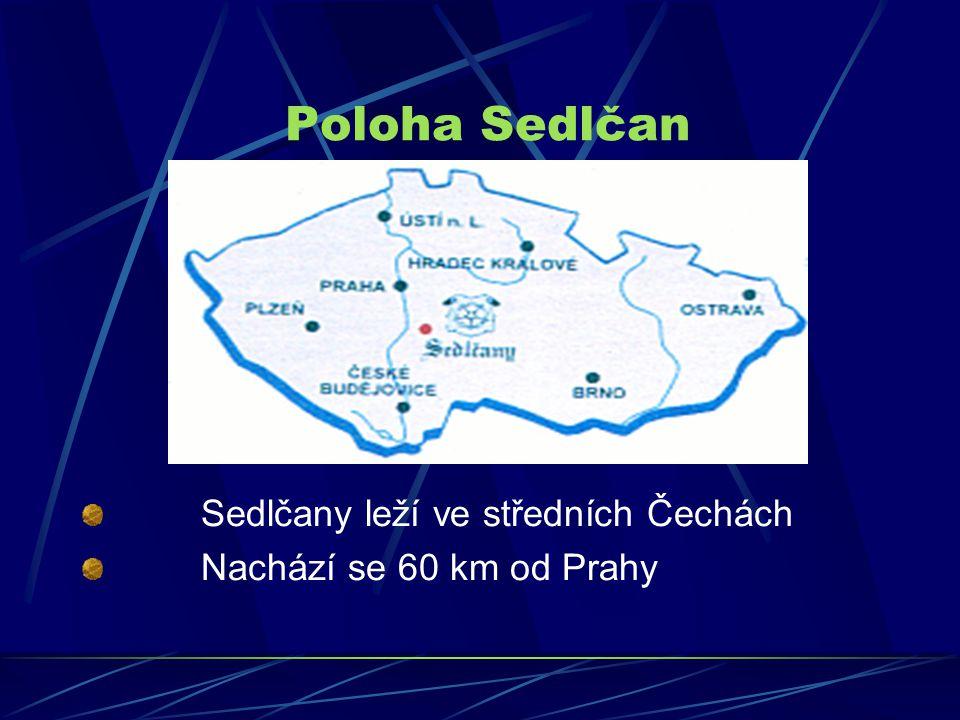 Poloha Sedlčan Sedlčany leží ve středních Čechách