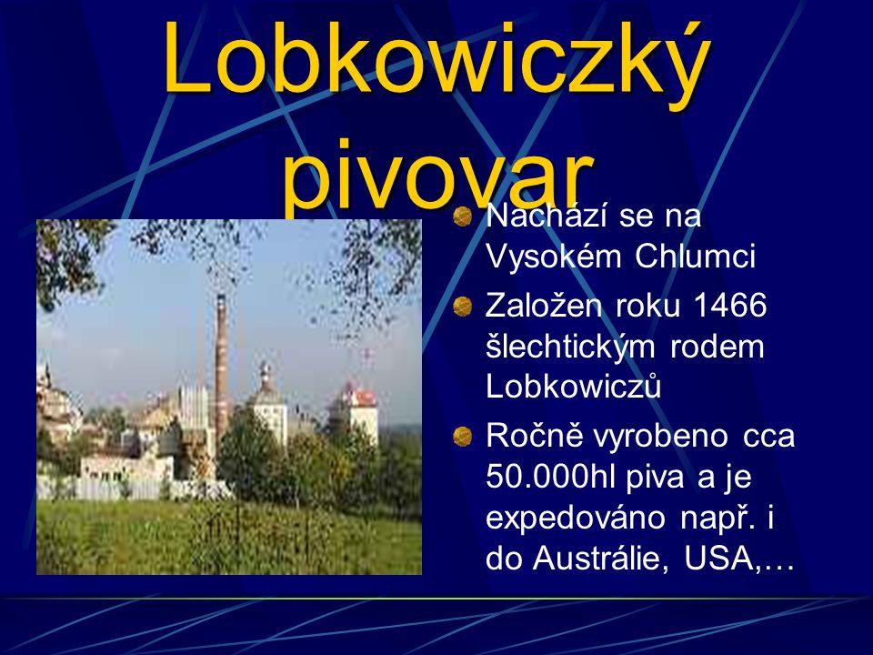 Lobkowiczký pivovar Nachází se na Vysokém Chlumci