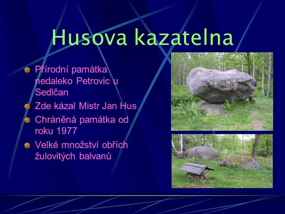 Husova kazatelna Přírodní památka nedaleko Petrovic u Sedlčan