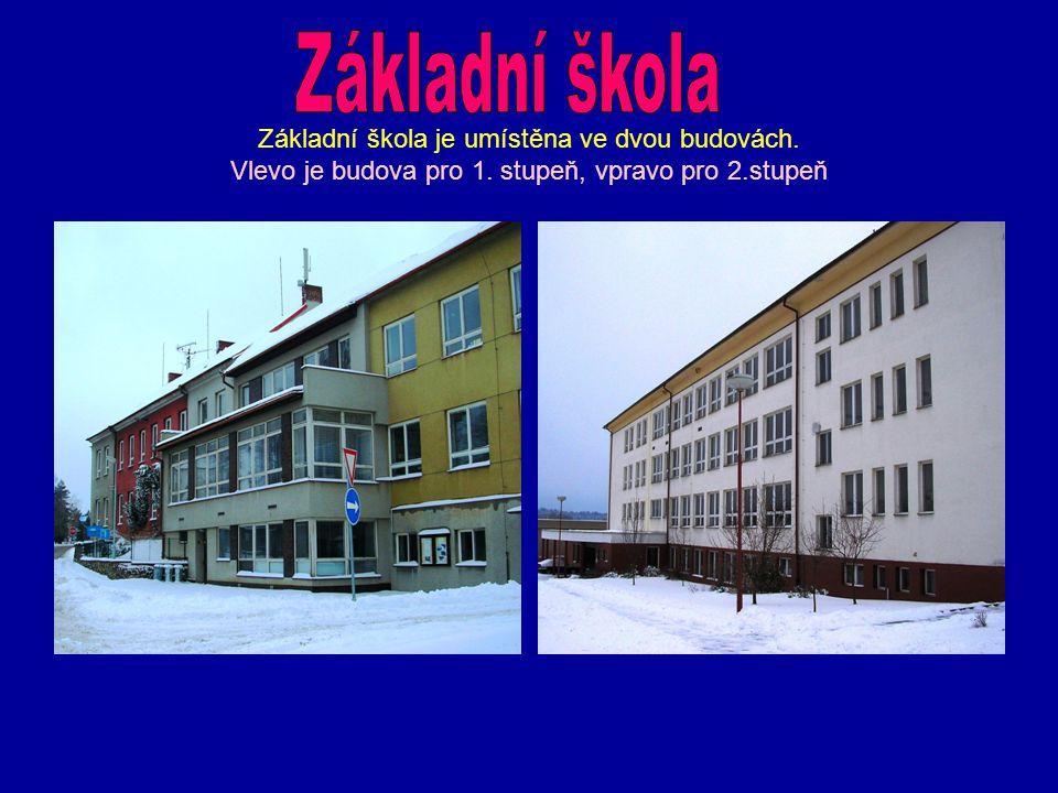 Základní škola je umístěna ve dvou budovách. Vlevo je budova pro 1