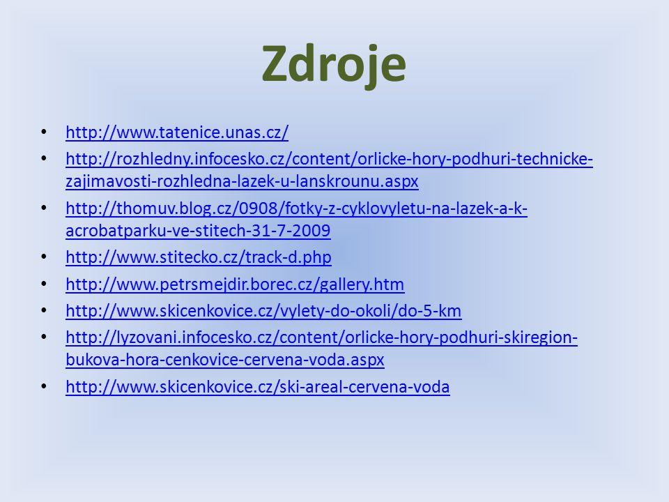 Zdroje http://www.tatenice.unas.cz/