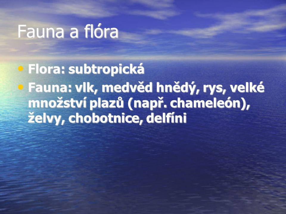 Fauna a flóra Flora: subtropická
