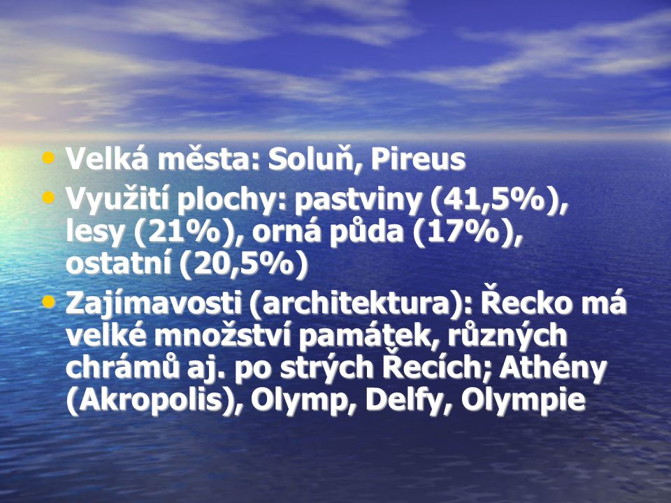 Velká města: Soluň, Pireus