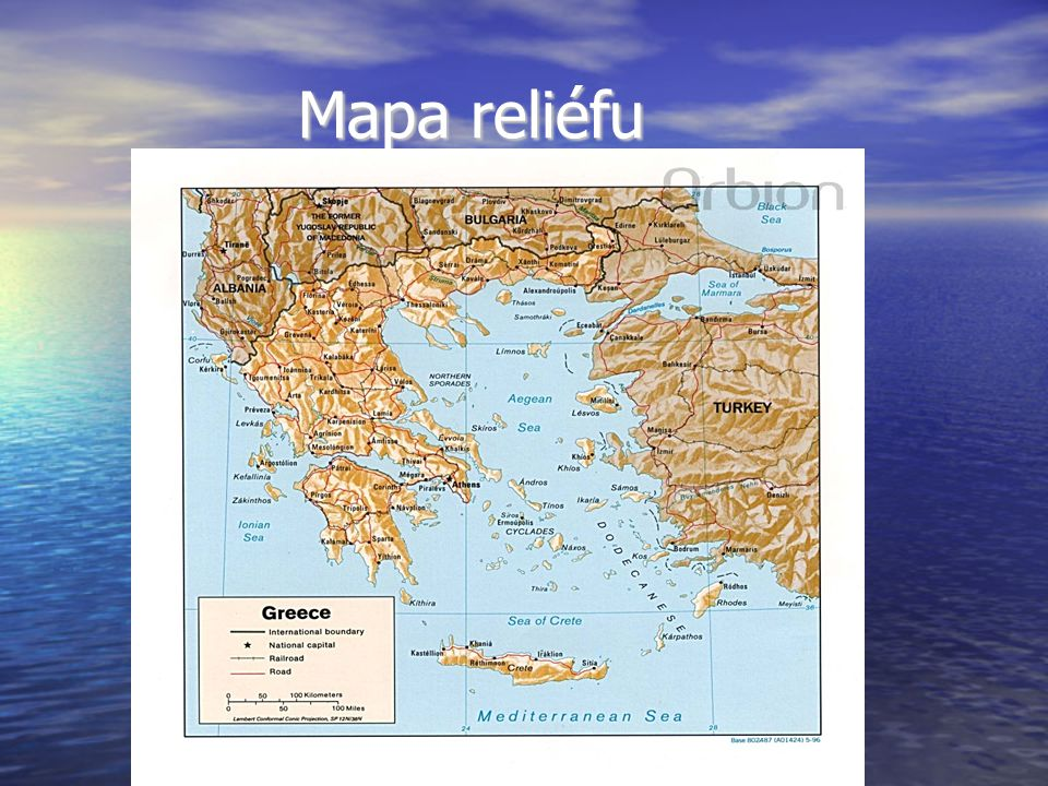 Mapa reliéfu