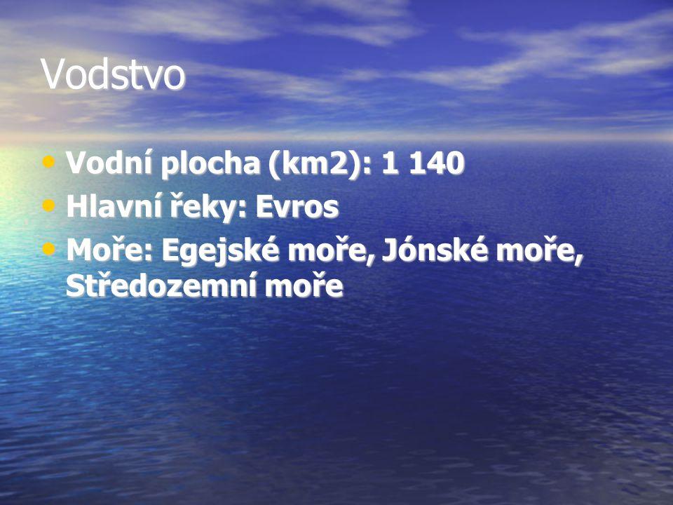 Vodstvo Vodní plocha (km2): 1 140 Hlavní řeky: Evros