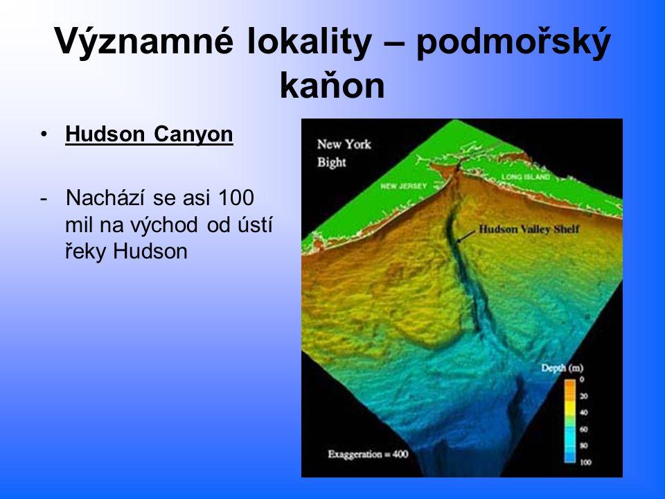Významné lokality – podmořský kaňon