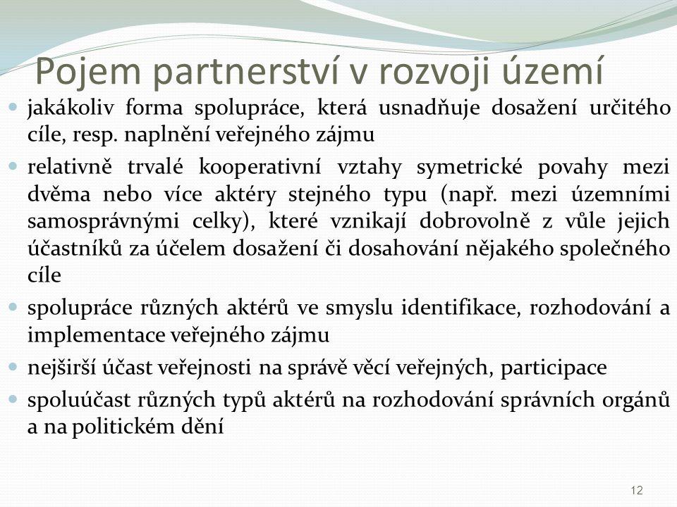 Pojem partnerství v rozvoji území
