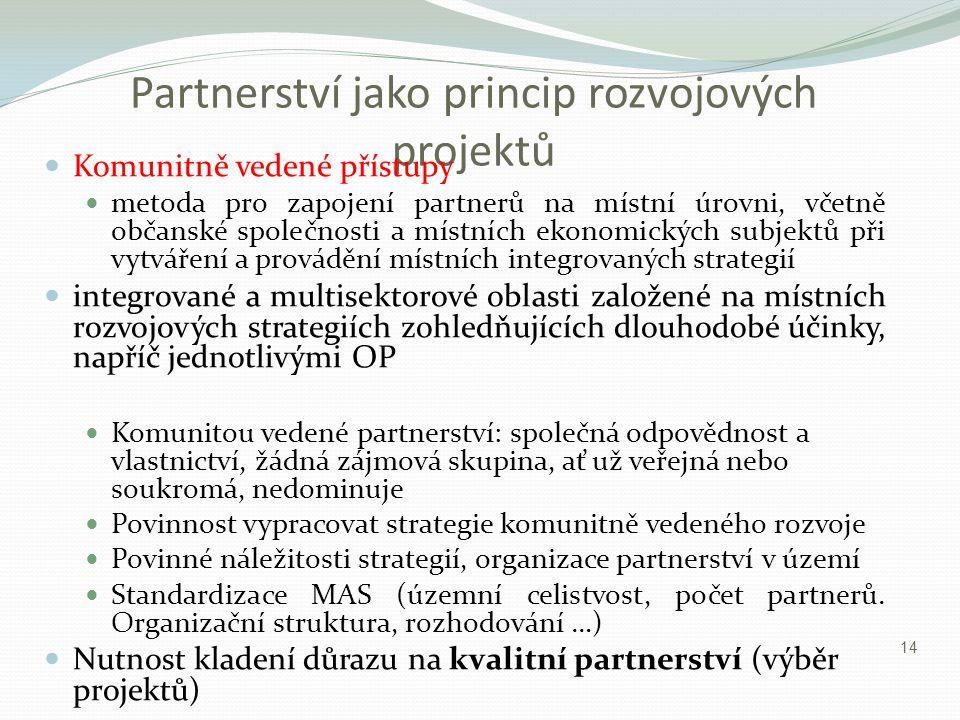 Partnerství jako princip rozvojových projektů