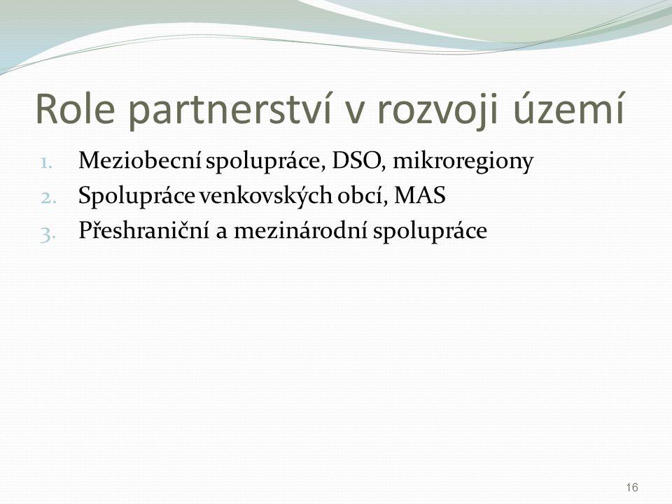 Role partnerství v rozvoji území