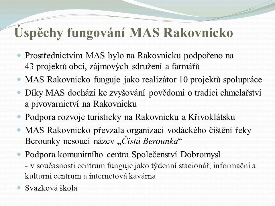 Úspěchy fungování MAS Rakovnicko