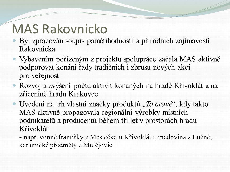 MAS Rakovnicko Byl zpracován soupis pamětihodností a přírodních zajímavostí Rakovnicka.