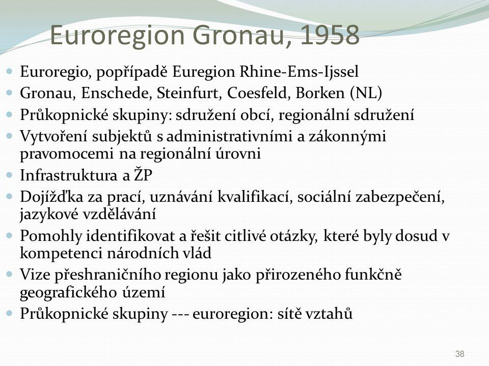 Euroregion Gronau, 1958 Euroregio, popřípadě Euregion Rhine-Ems-Ijssel
