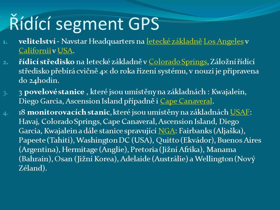 Řídící segment GPS velitelství - Navstar Headquarters na letecké základně Los Angeles v Californii v USA.