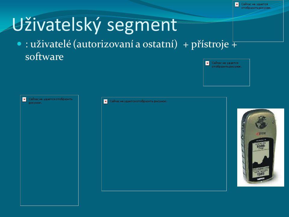 Uživatelský segment : uživatelé (autorizovaní a ostatní) + přístroje + software
