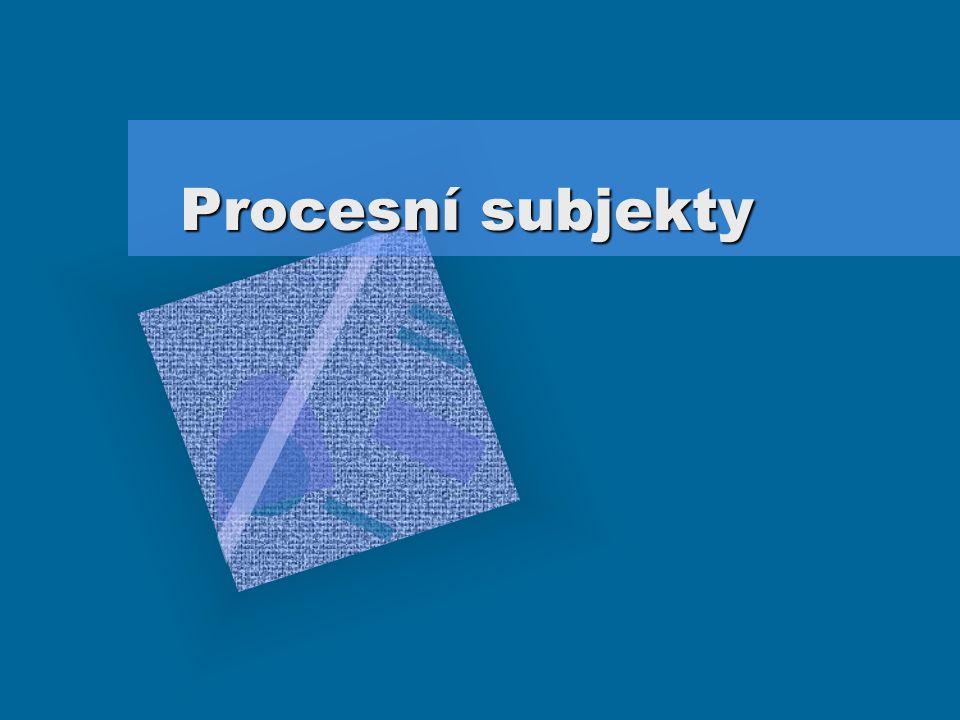 Procesní subjekty