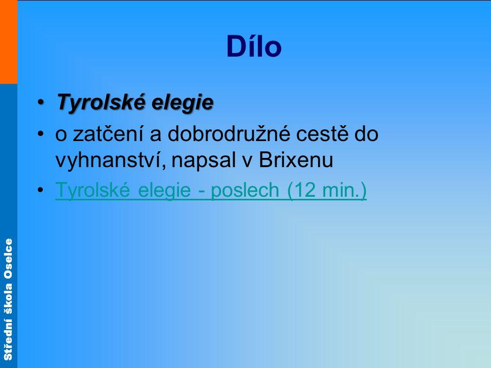 Dílo Tyrolské elegie. o zatčení a dobrodružné cestě do vyhnanství, napsal v Brixenu.