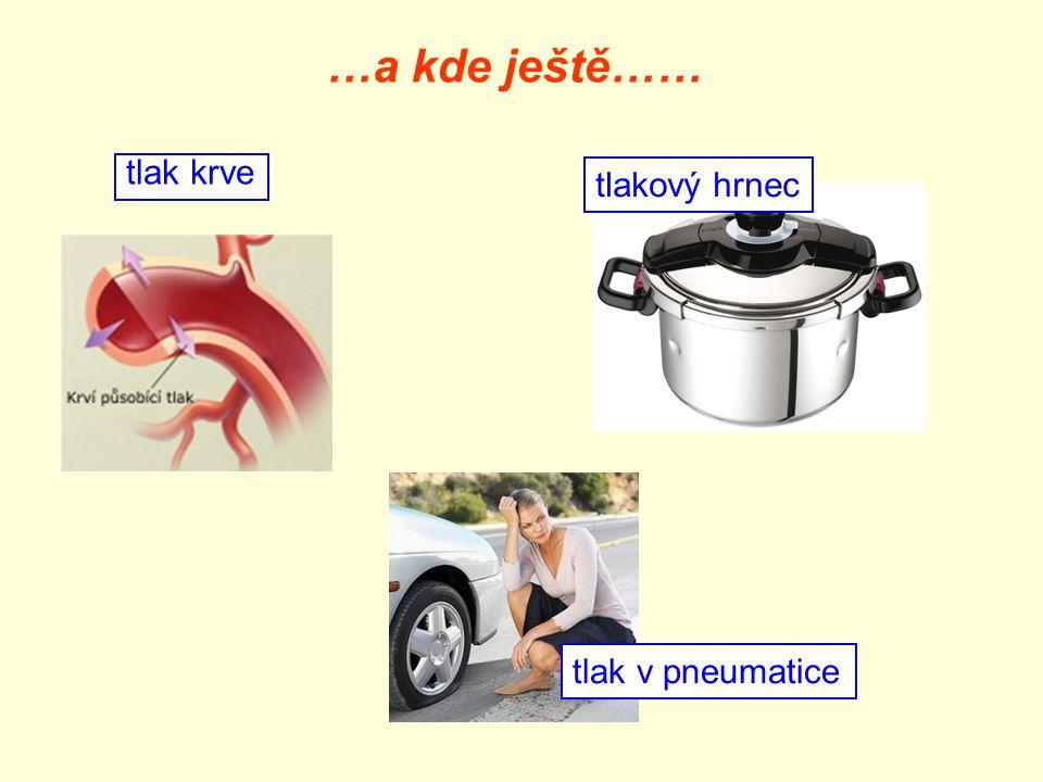 …a kde ještě…… tlak krve tlakový hrnec tlak v pneumatice