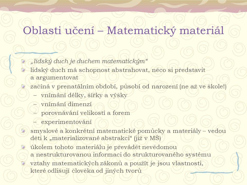 Oblasti učení – Matematický materiál