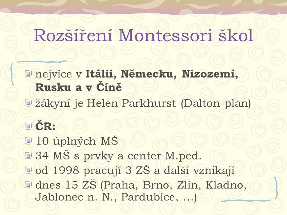 Rozšíření Montessori škol