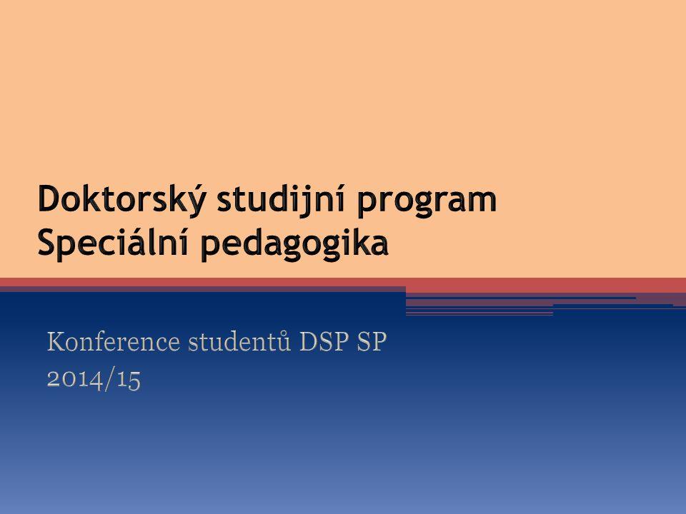 Doktorský studijní program Speciální pedagogika