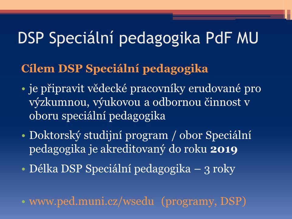 DSP Speciální pedagogika PdF MU