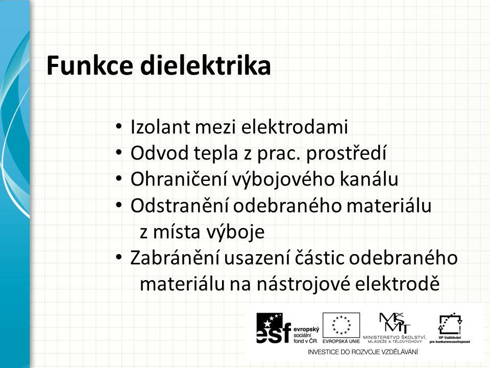 Funkce dielektrika Izolant mezi elektrodami