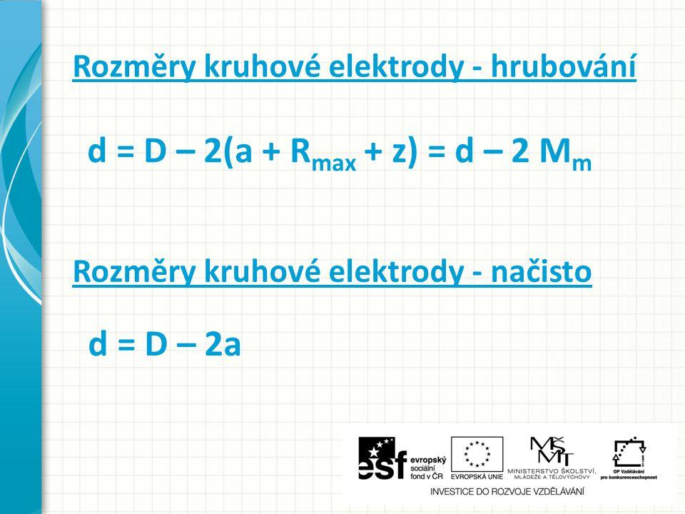d = D – 2(a + Rmax + z) = d – 2 Mm d = D – 2a