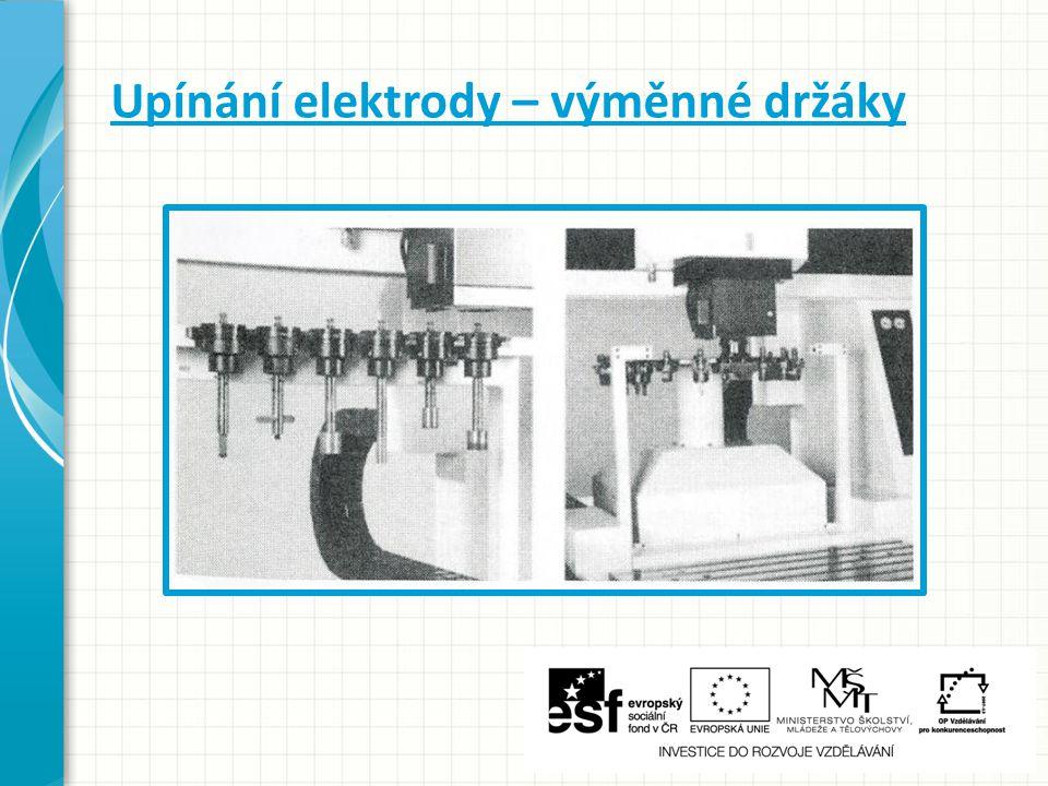 Upínání elektrody – výměnné držáky