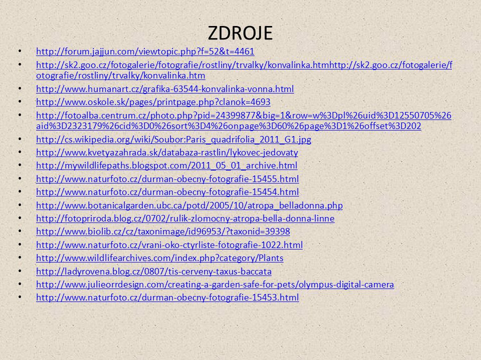 ZDROJE http://forum.jajjun.com/viewtopic.php f=52&t=4461