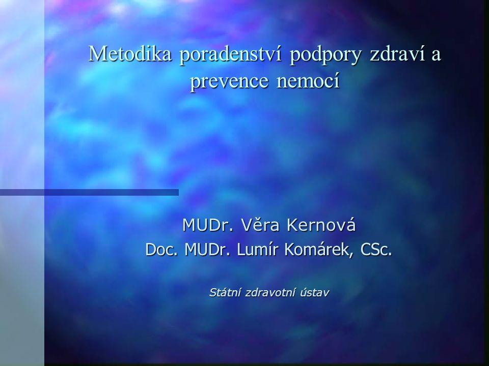 Metodika poradenství podpory zdraví a prevence nemocí