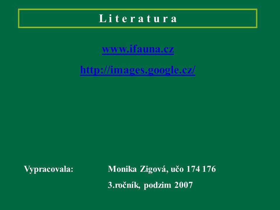 L i t e r a t u r a www.ifauna.cz http://images.google.cz/