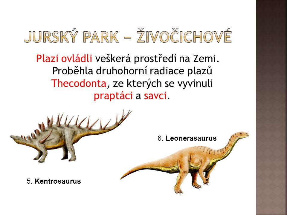 Jurský park − živočichové