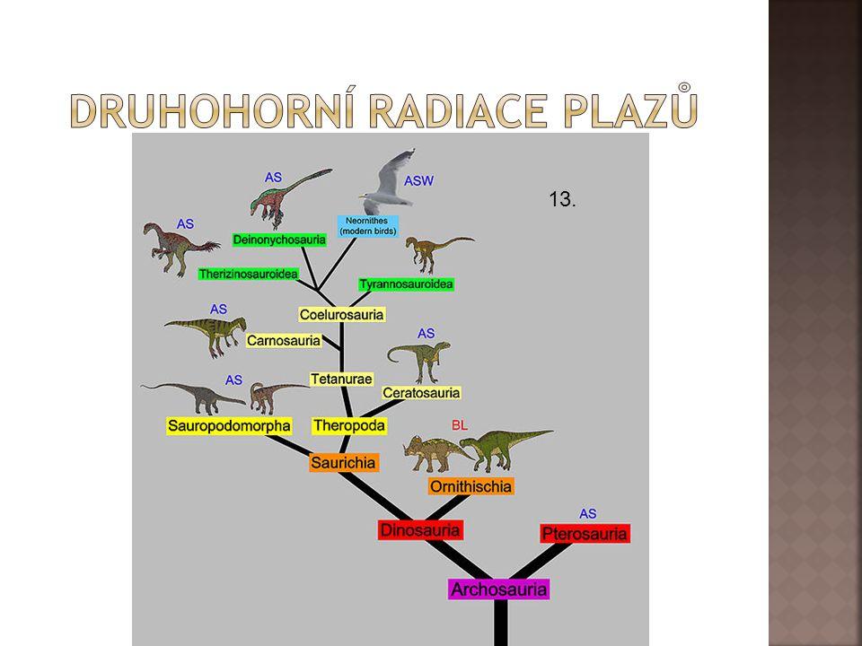 druhohorní radiace plazů